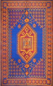 Mad Mats Oriental Turkish Blue 4x6